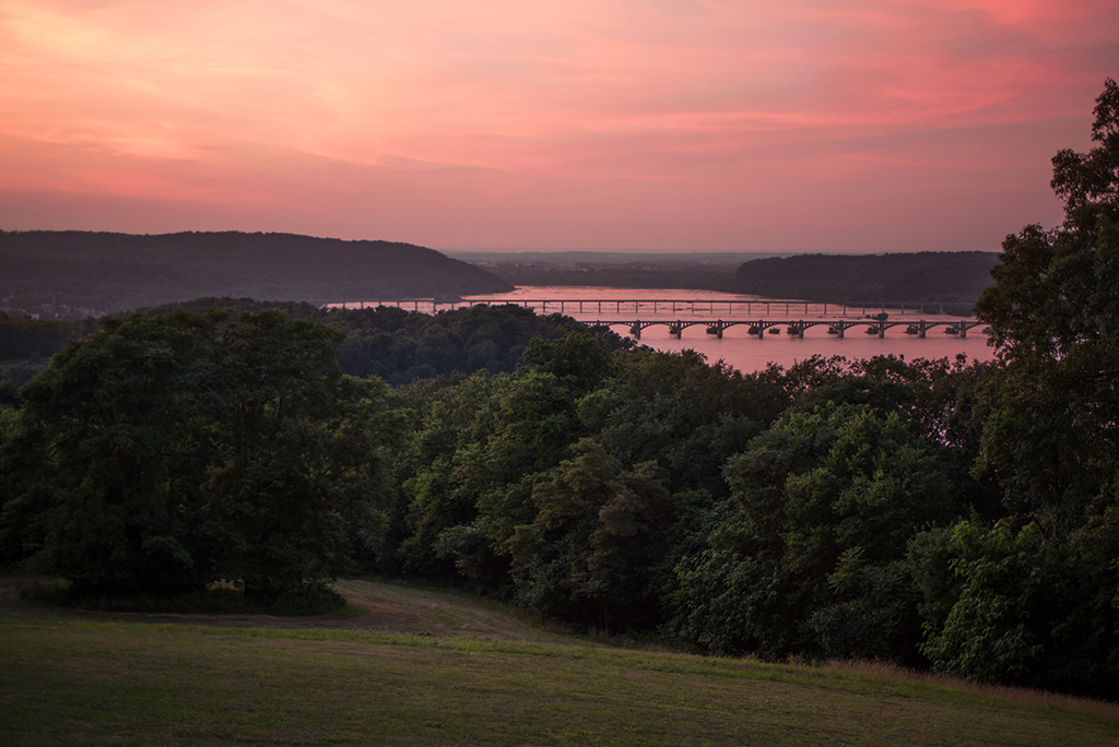 Susquehanna River Sunset, June 2014